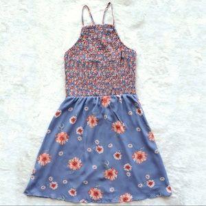 Trixxi Blue Floral Mini Dress
